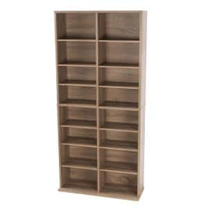 Henley Weathered Oak Adjustable Media Storage Cabinet