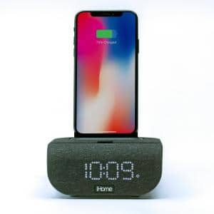 Dual Charging Bluetooth Alarm Clock with Wireless and USB Charging