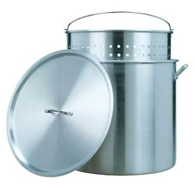 80 Qt. Aluminum Stock Pot and Strainer Set
