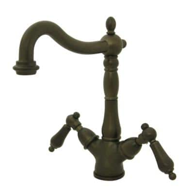 Heritage Single Hole 2-Handle Vessel Bathroom Faucet in Oil Rubbed Bronze