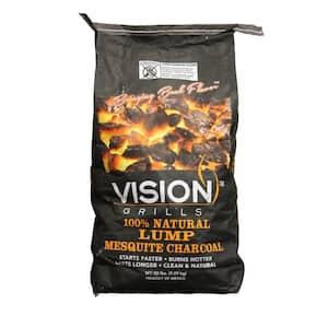 100% Natural Mesquite Lump Charcoal 20 lb. Bag