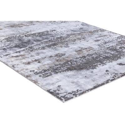 Craft Lakeside Gray 8 ft. x 10 ft. Abstract Area Rug