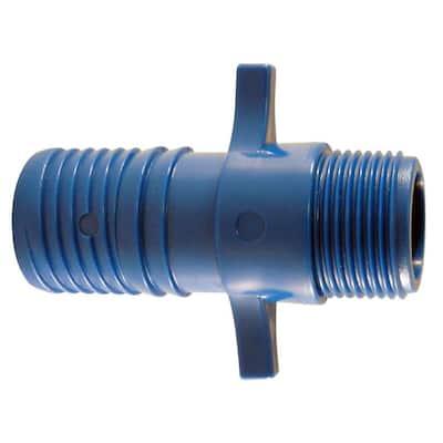 1 in. Polypropylene Blue Twister Insert x 3/4 in. MPT