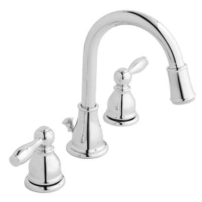 Mandouri 8 in. Widespread 2-Handle LED High-Arc Bathroom Faucet in Chrome