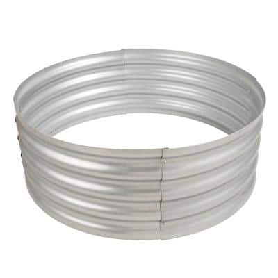 Infinity 36 in. x 13 in. Round Galvanized Steel Wood Fire Ring