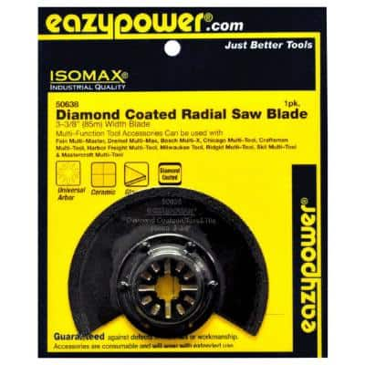 85 mm/3-3/8 in. Oscillating Diamond Coated Radial Saw Blade