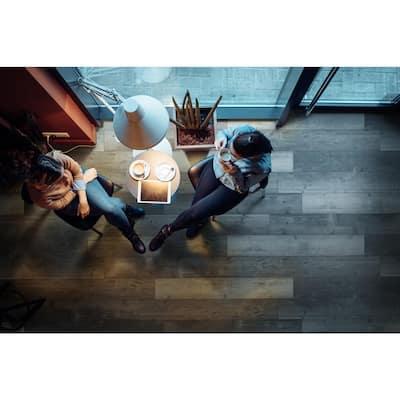 Piedmont Harlan Gray 7 in. x 48 in. Rigid Core Luxury Vinyl Plank Flooring (23.8 sq. ft. / case)