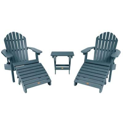 Hamilton Nantucket Blue 5-Piece Recycled Plastic Outdoor Conversation Set