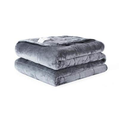 Grey Twin 20 lbs Weighted Comforter