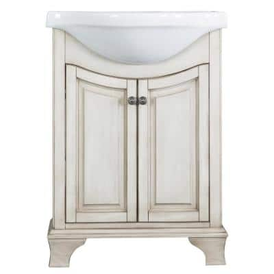 Single Sink Vitreous China 24 Inch Vanities Bathroom Vanities Bath The Home Depot