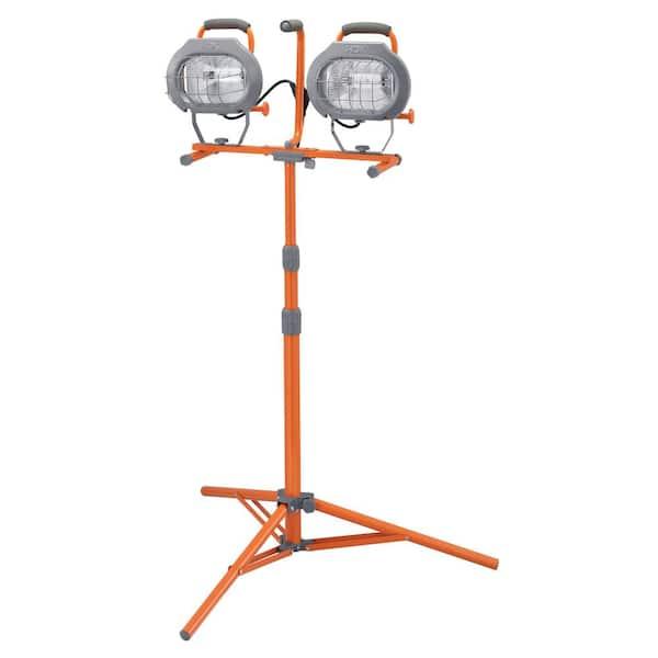 Hdx 1200 Watt Halogen Tripod Work Light, Outdoor Work Lights Home Depot