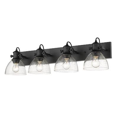 Hines 4-Light Matte Black Vanity Light