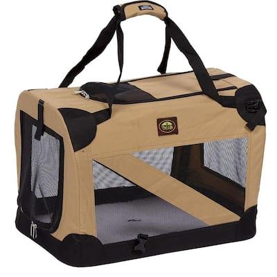 Khaki 360 Degree Vista-View Soft Folding Collapsible Crate - Large