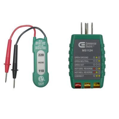 110-220V AC/DC Voltage Tester with Outlet Tester