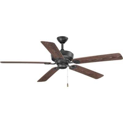 Lakehurst 60 in. Indoor/Outdoor Forged Black Ceiling Fan