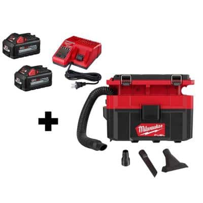 M18 FUEL PACKOUT 18-Volt 2.5 Gal. Lithium-Ion Cordless Wet/Dry Vacuum with 2 6.0 Ah Batteries and Charger