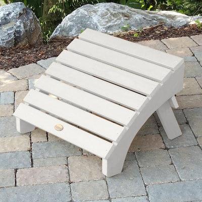 Adirondack White Recycled Plastic Outdoor Folding Ottoman