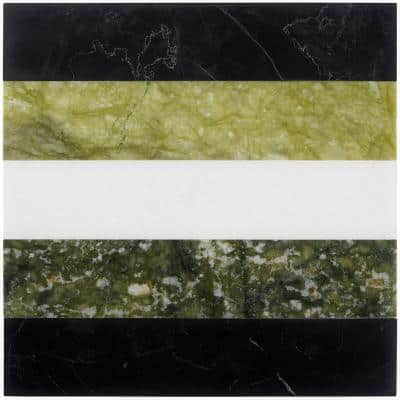 Elizabeth Sutton Bow Soul 12 in. x 12 in. Polished Marble Floor and Wall Mosaic Tile (1 sq. ft. / Sheet)