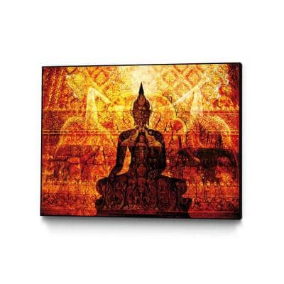 """14 in. x 11 in. """"Temple with Akar Yoga"""" by Daniel Stanford Framed Wall Art"""