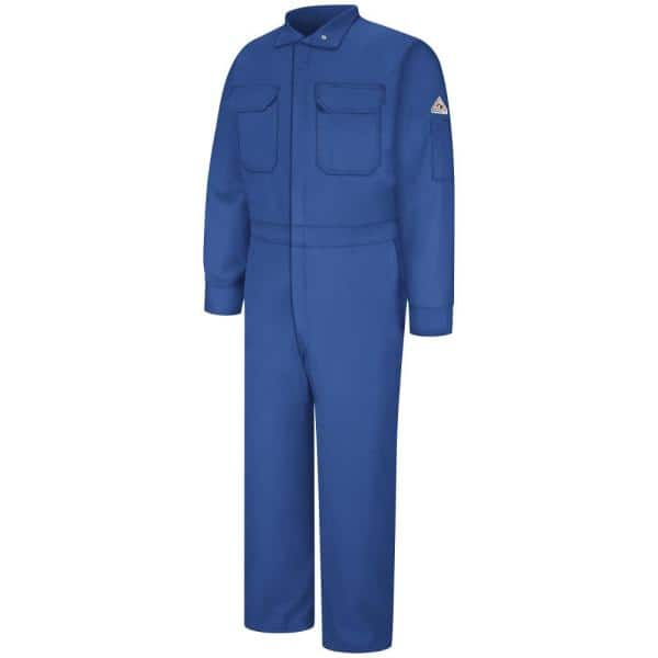 Bulwark Nomex Iiia Men S Size 40 Short Royal Blue Premium Coverall Cnb6rb Sh 40 The Home Depot