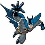 5 in. x 19 in. Batman - Gotham Guardian Peel and Stick Giant Wall Decals 6-Piece)