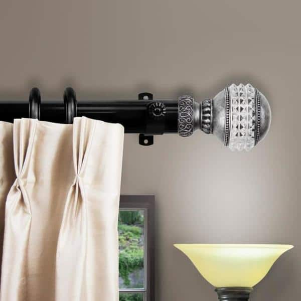 Non Telescoping Single Curtain Rod, 7ft Curtain Pole