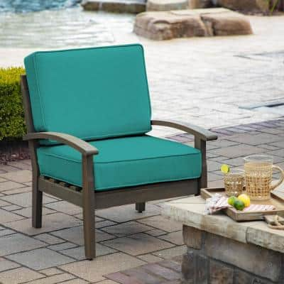 ProFoam 24 in. x 18 in. Surf Acrylic 2-Piece Deep Seating Outdoor Lounge Chair Cushion