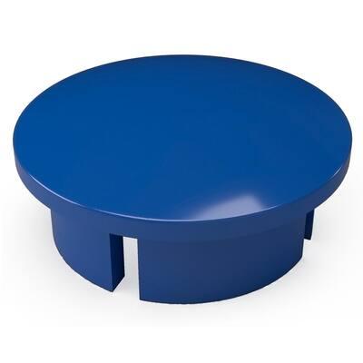 1/2 in. Furniture Grade PVC Internal Dome Cap in Blue (10-Pack)