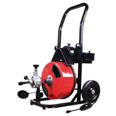 1/2 in. x 50 ft. Power Feed Drain Cleaner Machine