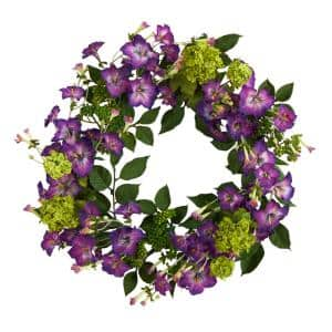 20 in. Morning Glory Artificial Wreath