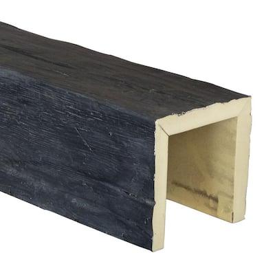 SAMPLE - 6 in. x 6 in. x 12 in. 3 Sided (U-Beam) Riverwood Aged Ash Endurathane Faux Wood Ceiling Beam Premium