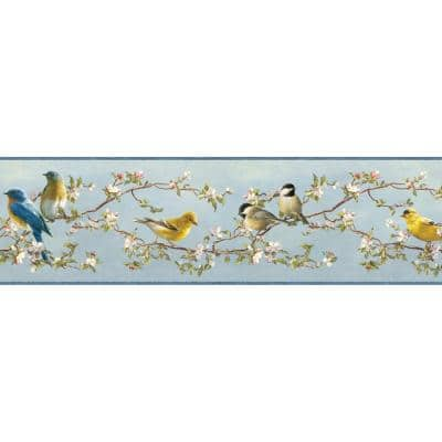 Vandalia Sky Songbird Sky Wallpaper Border Sample