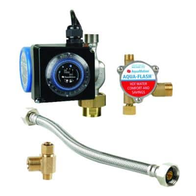 Stainless Steel Hot Water Recirculating Pump Kit with Built-In Check Valve