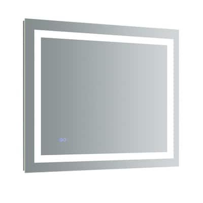 Santo 36 in. W x 30 in. H Frameless Rectangular LED Light Bathroom Vanity Mirror