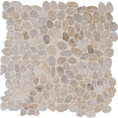 Dorado River Rock 12 in. x 12 in. x 10mm Textured Marble Mesh-Mounted Mosaic Tile (10 sq. ft. / case)