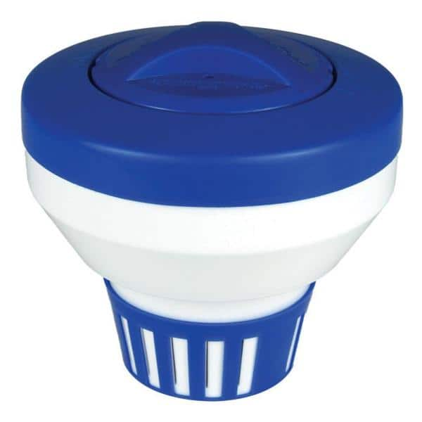 Hdx Floating Swimming Pool And Spa Chlorine Dispenser 62155 The Home Depot