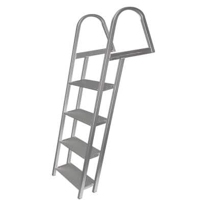 4-Step Angled Aluminum Ladder with Mounting Hardware