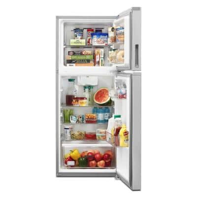 24 in. 11.6 cu. ft. Top Freezer Refrigerator in Fingerprint Resistant Stainless Finish, Counter Depth