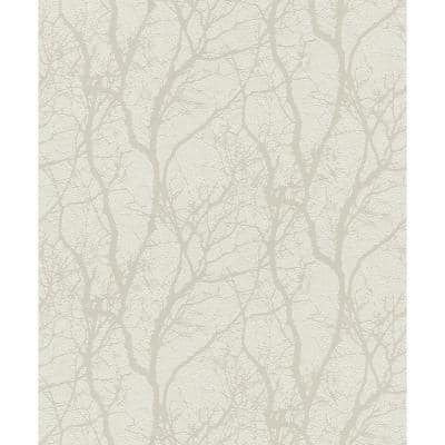 Wiwen Off-White Tree Off-White Wallpaper Sample