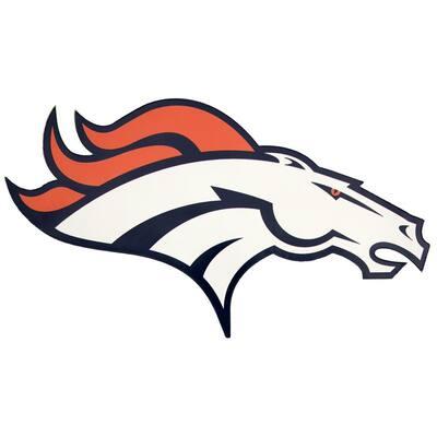NFL Denver Broncos Outdoor Logo Graphic- Small