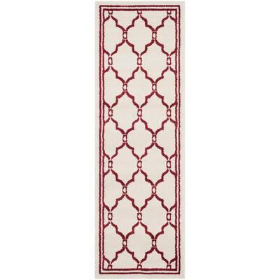 Amherst Ivory/Red 2 ft. x 7 ft. Runner Rug