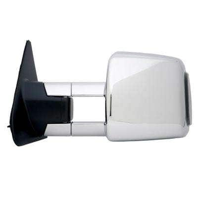 Towing Mirror for 07-18 Toyota Tundra 08-18 Sequoia with Smoked Signal and Light Extendable Chrome Foldaway LH
