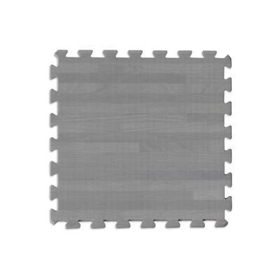 36 in. x 72 in. Grey Manor Interlocking Foam Floor Tiles (Set of 2)