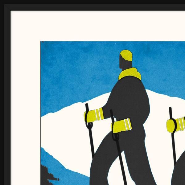 Melissa Van Hise Ski Poster I Framed Giclee Vintage Art Print 23 In X 29 In Ip20851 The Home Depot