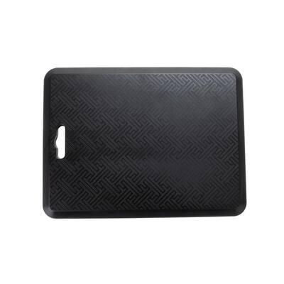 Anti Fatigue Black 16 In. x 21.5 In. Foam Comfort Floor Mat for Desks, Kitchens, Garages, Helps Relieve Body Pains
