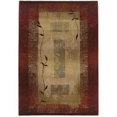 Mantra Red 2 ft. x 4 ft. Area Rug