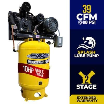 Industrial PLUS Series 120 Gal. 10 HP 1-Phase 2-Stage Vertical Electric Air Compressor