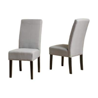 Pertica Light Grey T-Stitch Dining Chairs (Set of 2)