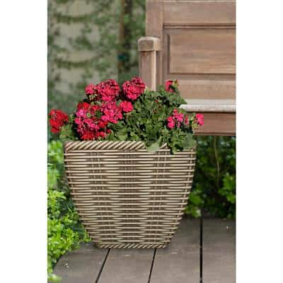 18 in. Market Place Willowbark Resin Planter