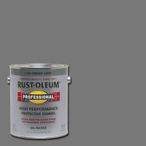 1 gal. High Performance Protective Enamel Gloss Smoke Gray Oil-Based Interior/Exterior Industrial Paint (2-Pack)